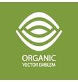 Organic farming logo design idea vector image