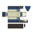 paper model of a classsic delivery car vector image vector image