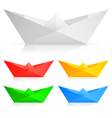 paper ships vector image vector image