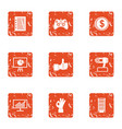 payday icons set grunge style vector image vector image