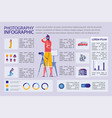 photography infographic set with photographer vector image