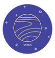 planet venus icon in thin line style vector image vector image