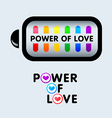 Power of love vector image vector image