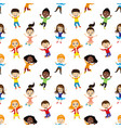 seamless background with jumping children vector image vector image