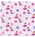 seamless fairy pattern vector image vector image