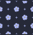 seamless pattern with beautiful blue flowers vector image