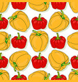 seamless pattern with yellow and red sweet bell vector image