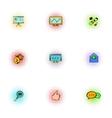 seo icons set pop-art style