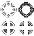 set fantasy rings vector image