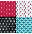 set of four winter forest pixel patterns set 2 vector image