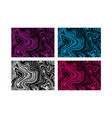 set of of ink marbling texture vector image vector image
