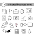 Set of Universal Business Icons vector image vector image