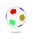 soccer ball it is icon vector image vector image