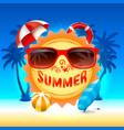 summer time holiday cover banner design elements vector image vector image