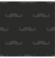 Tile mustache dark pattern on black background vector image vector image