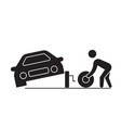 tire replacement black concept icon tire vector image vector image