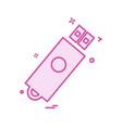 usb icon design vector image vector image