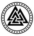 valknut ancient pagan nordic germanic symbol vector image vector image