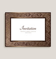 vintage rectangle frame with ornamental border vector image vector image