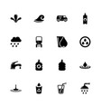 water - flat icons vector image vector image