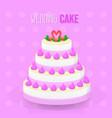 wedding cake dessert design vector image vector image