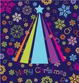 merry christmas wallpaper vector image
