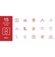 15 men icons vector image vector image