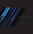 abstract blue grey cyber geometric line vector image vector image