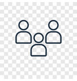 audience concept linear icon isolated on vector image vector image