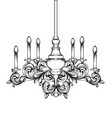 baroque classic chandelier luxury decor accessory vector image vector image