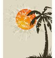 beach retro a card vector image vector image
