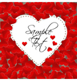 Big white paper heart on a background made of vector image vector image