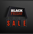 black friday sale abstract design on black vector image vector image