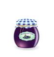 blueberry jam jar vector image vector image