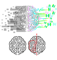 Brain hemispheres maze vector image vector image