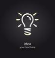Bulb light idea vector image vector image