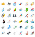 business contract icons set isometric style vector image vector image