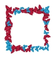 Butterflies frame Square pattern Border of vector image vector image