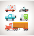 Car Flat Icon Set 3 vector image vector image