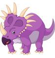 cartoon styracosaurus vector image vector image