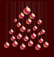 christmas and new year postcard with balls vector image vector image