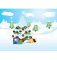 Christmas tree landscape vector image vector image