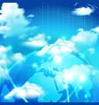 cloud storage realistic symbol vector image