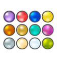 collection of multicolored buttons vector image