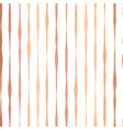 copper foil hand drawn vertical lines pattern vector image vector image