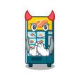 devil bakery vending machine in a mascot vector image vector image