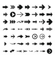 different arrow icon set simple style vector image