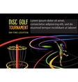 disc golf or frolf sports banner vector image vector image