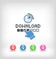 download progress vector image