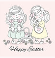 easter children religious holiday vector image vector image